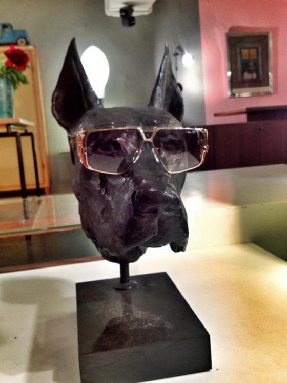 Vintage Sunglasses Day Zurich Dog